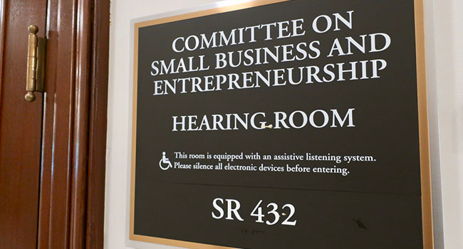 Committee on small business sign