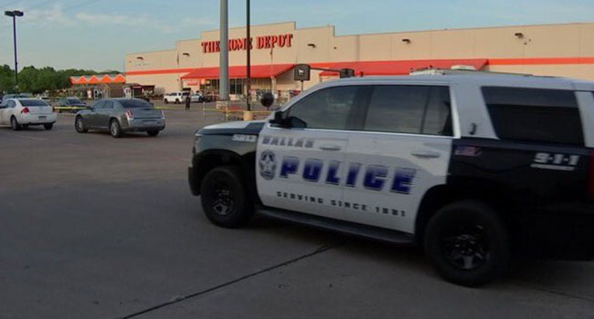 Two Police Officers, Civilian Shot at Dallas Home Depot